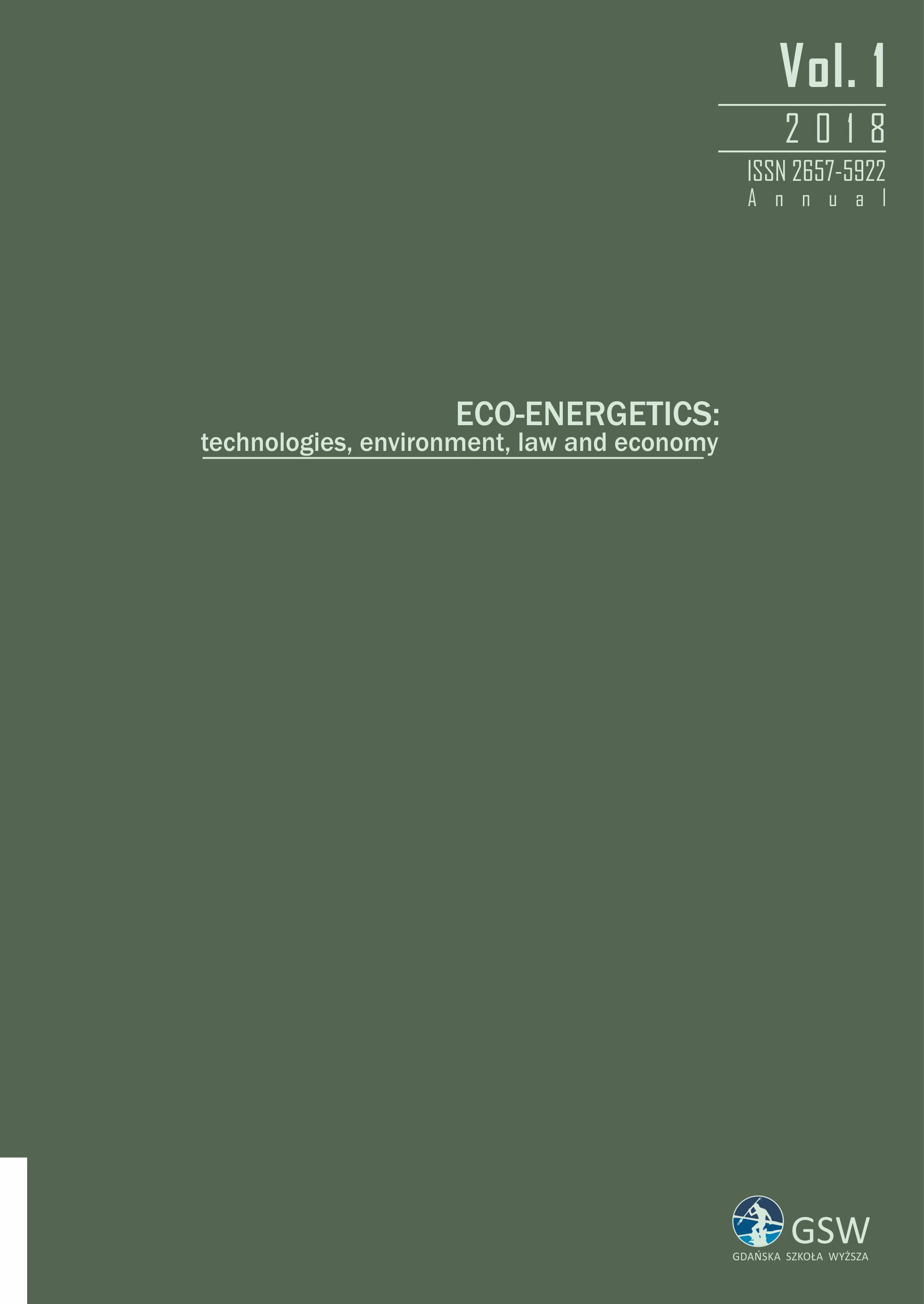 Eco-Energetics, vol. 1 - pierwsza strona okładki