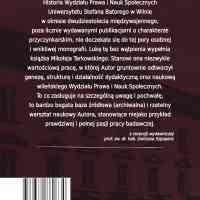 Wydział Prawa i Nauk Społecznych Uniwersytetu Stefana Batorego w Wilnie - ostatnia strona okładki