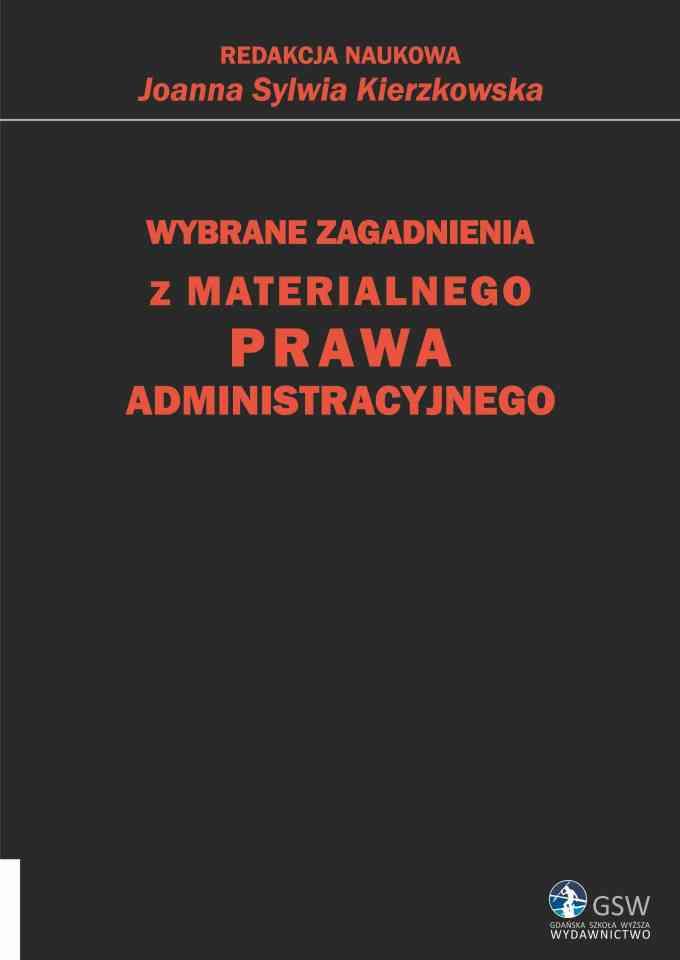 Wybrane zagadnienia z materialnego prawa administracyjnego - pierwsza strona okładki