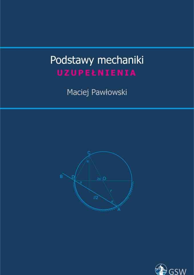 Podstawy mechaniki. Uzupełnienia (2019) - pierwsza strona okładki