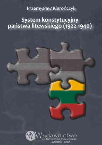 System konstytucyjny państwa litewskiego 1922-1940 - pierwsza strona okładki