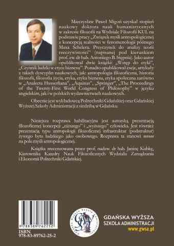 Zarys koncepcji filozofii niższego i wyższego człowieka. Wydanie 2009 - ostatnia strona okładki