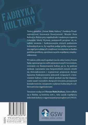Społeczne, prawne i administracyjne aspekty rozwoju kultury - ostatnia strona okładki