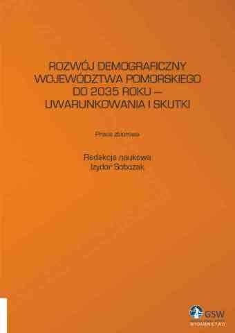 Rozwój demograficzny województwa pomorskiego - pierwsza strona okładki