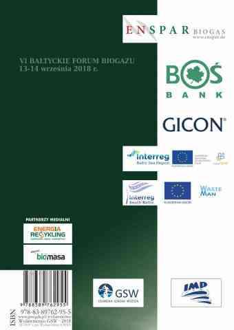 Ekoenergetyka - biogaz. Badania, technologie, prawo i ekonomika w rejonie Morza Bałtyckiego 2018 - ostatnia strona okładki