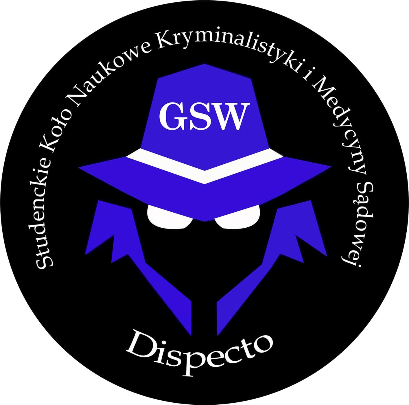 """Logo Koła Naukowego Kryminalistyki i Medycyny Sądowej """"Dispecto"""""""